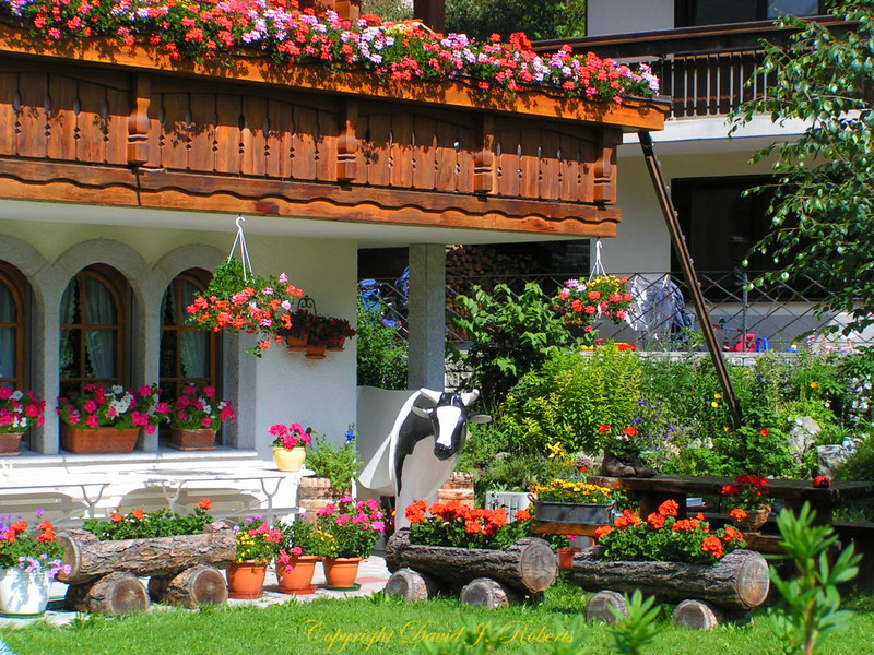 Beautiful yard Zermatt, Switzerland