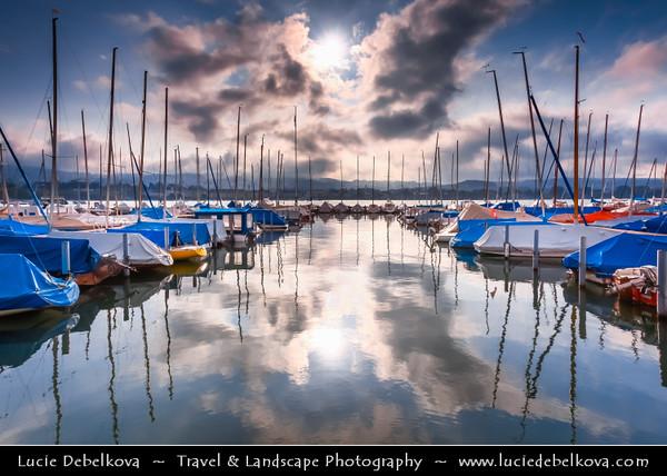 Europe - Switzerland - Swiss - Zurich - Early Morning at Zurich Lake