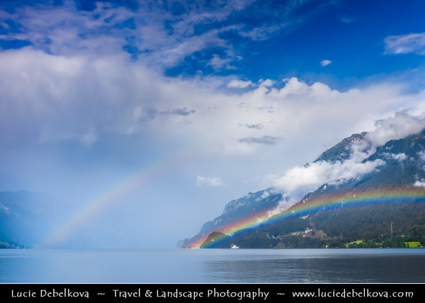 Europe - Switzerland - Swiss - Alps - Alpen - Alpi - Alpes - Great Mountain Range in Europe - Brienz Lake - Interlaken