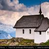Switzerland - Swiss - The Alps - Alpen - Alpi - Alpes - Great Mountain Range in Europe - Lovely Mountain Church in Village of Bettmeralp - Nearby the impressive Aletsch Glacier