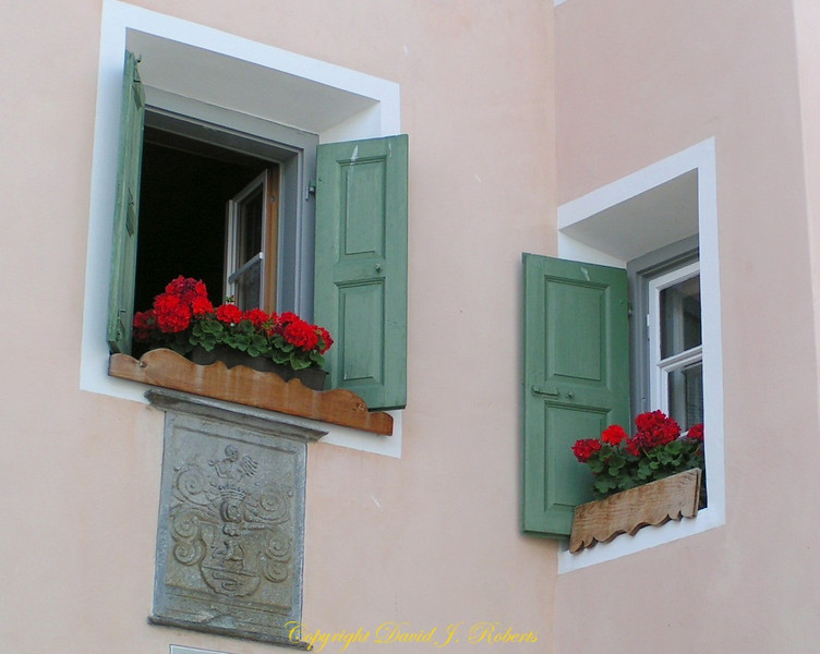 Windows in Guardia, Switzerland