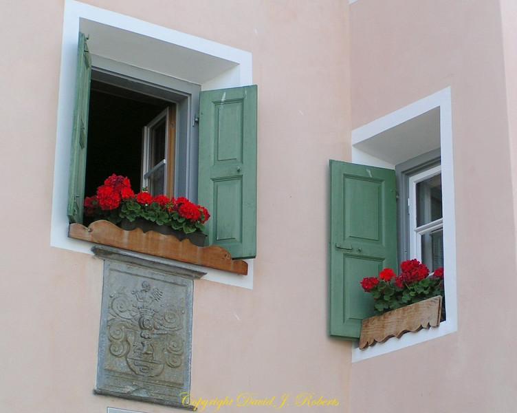 Windows in Guardia, Switzerland