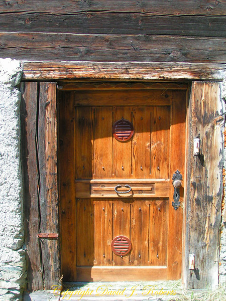 Old door, Findeln, Zermatt, Switzerland