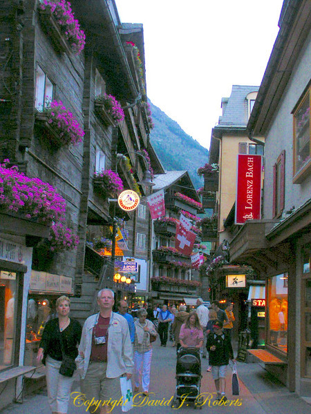 Main street, Zermatt, Switzerland