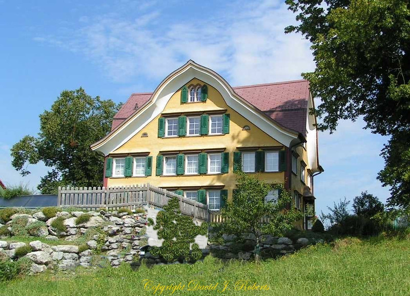 Beautiful Swiss house, Appenzell, Switzerland