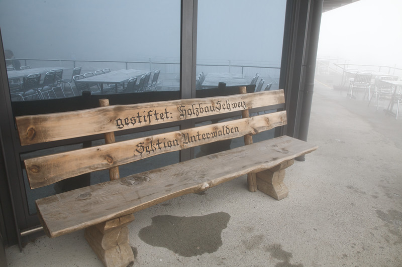 Bench on top of Mt Stanserhorn