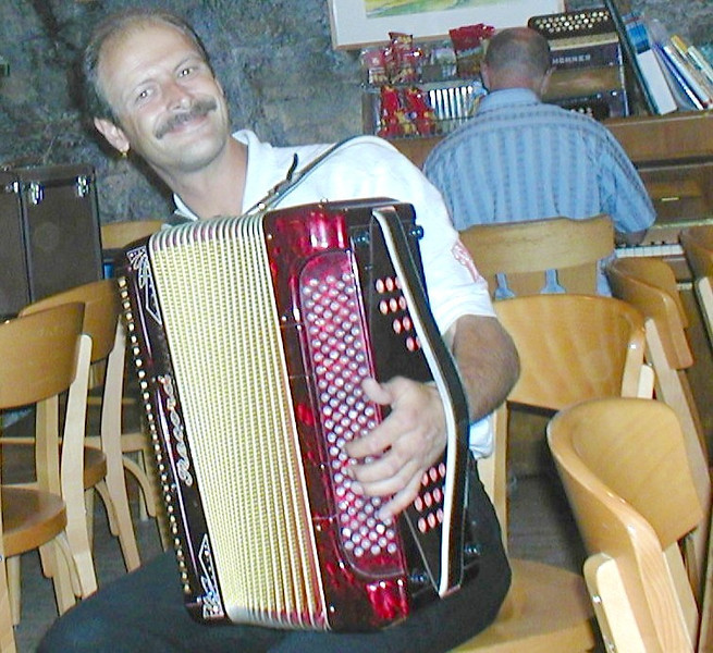 Accordion player, Ebenalp, Switzerland