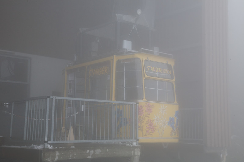 The cable car which took us up to top of Mt Stanserhorn