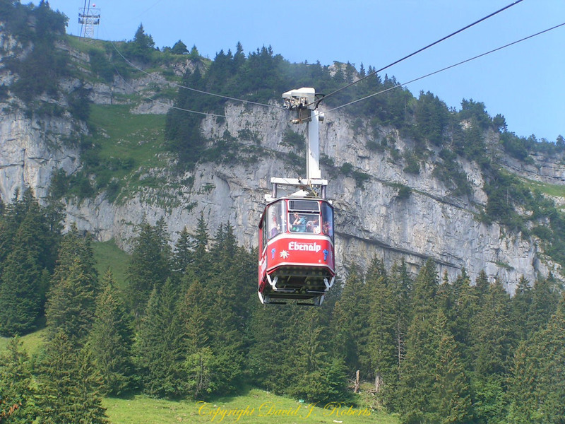 Telecabine at Ebenalp, Switzerland