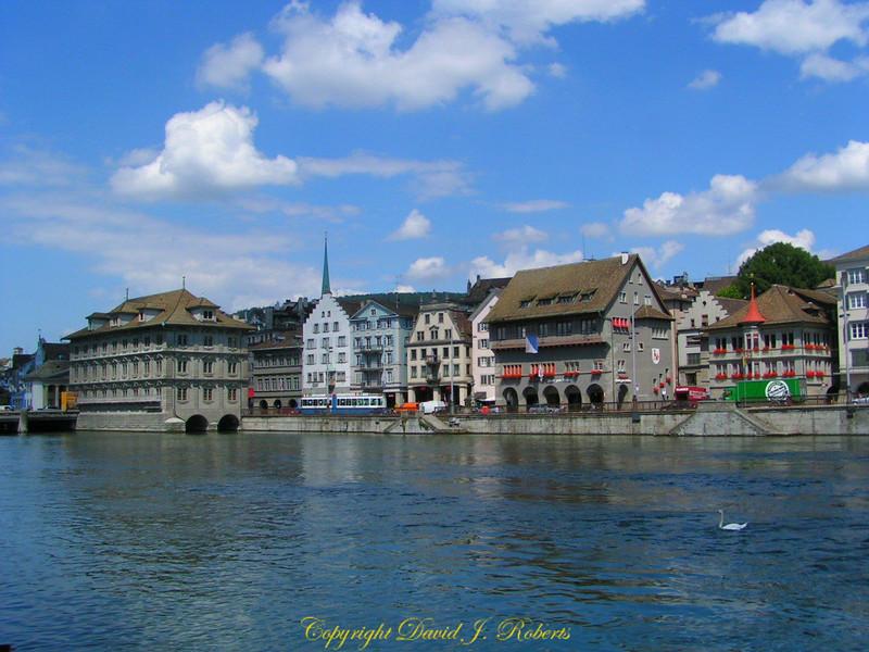 Waterfront in Zurich Switzerland