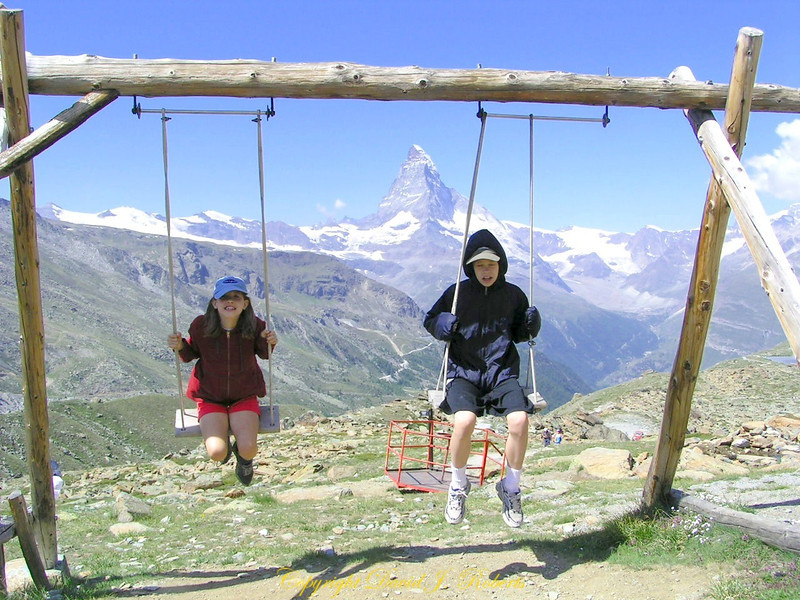 High altitude swings, Fluhap, Zermatt, Switzerland