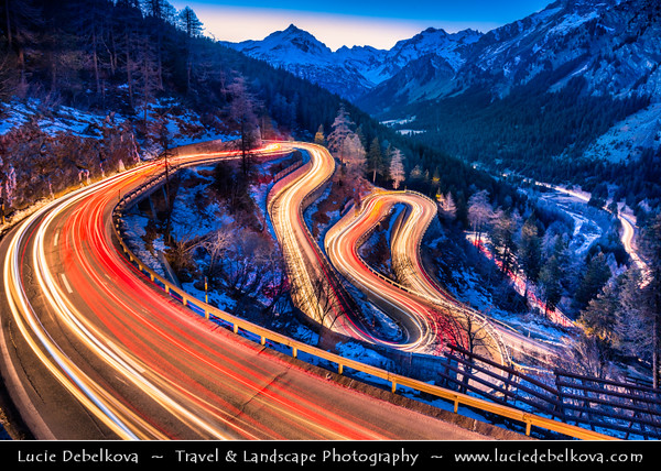 Europe - Switzerland - Swiss - Graubünden Canton - Grisons - Alps - Alpen - Alpi - Alpes - Great Mountain Range in Europe - Maloja Pass - Passo del Maloja - 1815m a.s.l. High mountain pass linking Engadine valley with Val Bregaglia