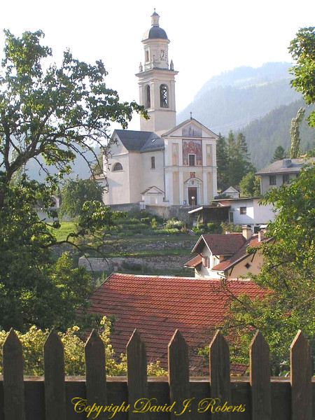 Flim Church and village, Switzerland