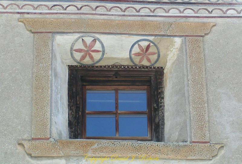 Window with sgraffiti, Guardia, Switzerland