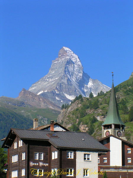 View of the Matterhorn above Zermatt, Switzerland
