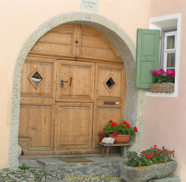 Entrance to a home in Guardia, Switzerland