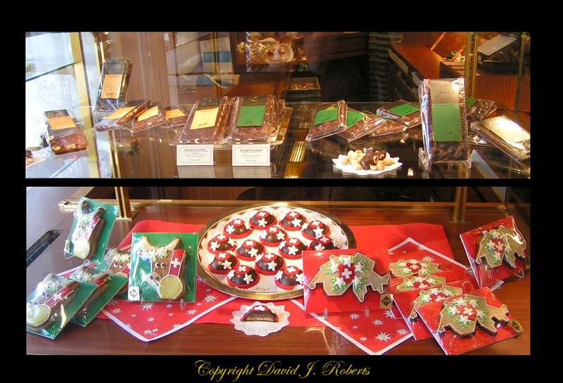 Swiss delicacies in a Zurich pastry shop