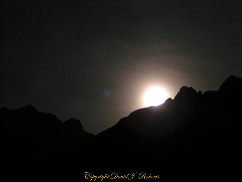 Moon Rise, Volpera, Switzerland