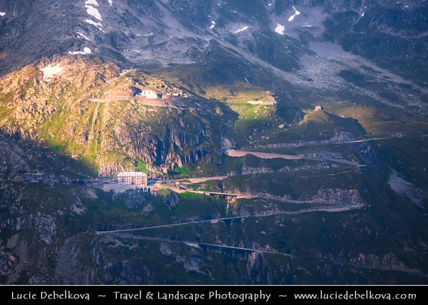 Europe - Switzerland - Swiss - Alps - Alpen - Alpi - Alpes - Great mountain range of Europe - Furka Pass - Rhône Glacier - 2300m above sea level on the Valais side, source of the river Rhône and one of the primary contributors to Lake Geneva in the far eastern end of the Swiss canton of Valais