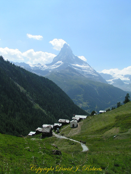 Findeln and the Matterhorn, Zermatt, Switzerland
