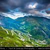 Europe - Switzerland - Swiss - Alps - Alpen - Alpi - Alpes - Great Mountain Range in Europe - Grimselpass - Mountain pass crossing the Bernese Alps at an elevation of 2.164 m (7,100 ft) above the sea level