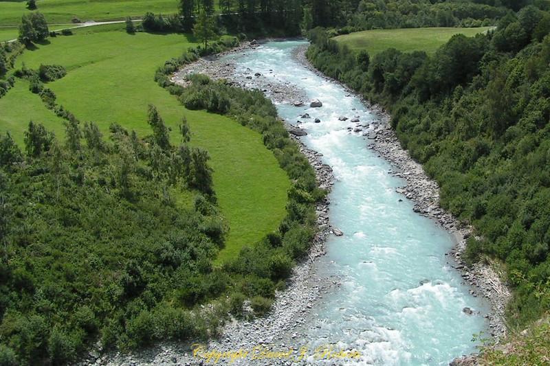 Inn River in eastern Switzerland