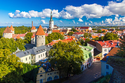 Tallinn's Old Town from Patkuli Viewing Platform