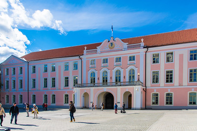 Toompea Castle houses the Estonian Parliament