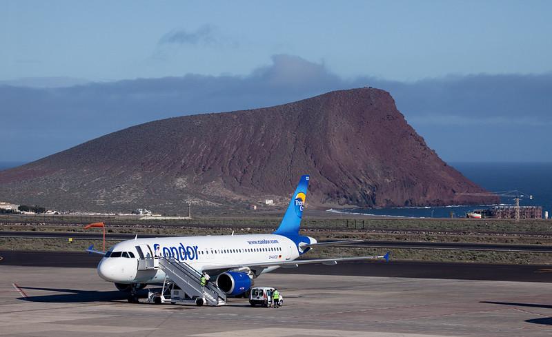 Condor plane at Tenerife airport.