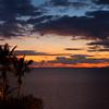 La Gomera at sunset, viewed from Tenerife.