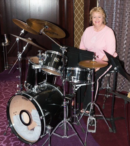 Lisa at the Drums