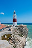 The lighthouse stands about 50 metres above the sea; its light can reportedly be seen more than twenty miles.