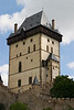 Karlstein Castle was the country seat for King Charles IV of Bohemia and the Holy Roman Empire. This shows the main castle tower; a fortress with walls ten feet thick.