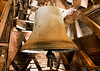 One of the old bells in the bell tower of the Notre Dame Cathedral in Paris.