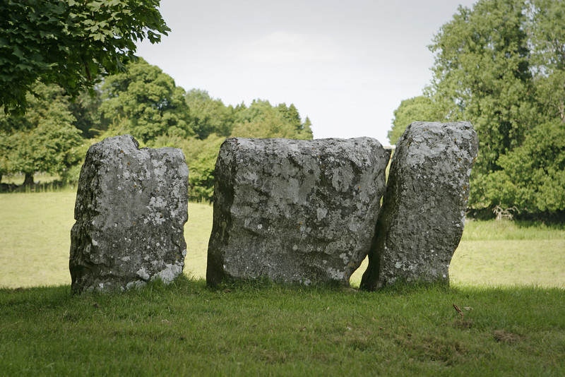 Several large stone monoliths from an ancient Celtic stone circle near the village of Cong in Ireland.