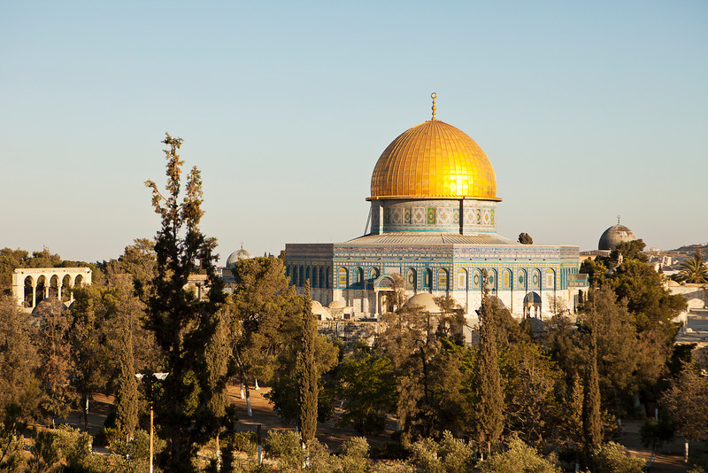 The Dome Of The Rock is a shrine located on the Temple Mount in the Old City of Jerusalem. It is one of the major Moslem shrines and its significance stems from religious traditions regarding the rock, known as the Foundation Stone, at its heart.