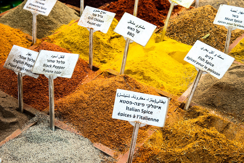 Spice Bins At Market