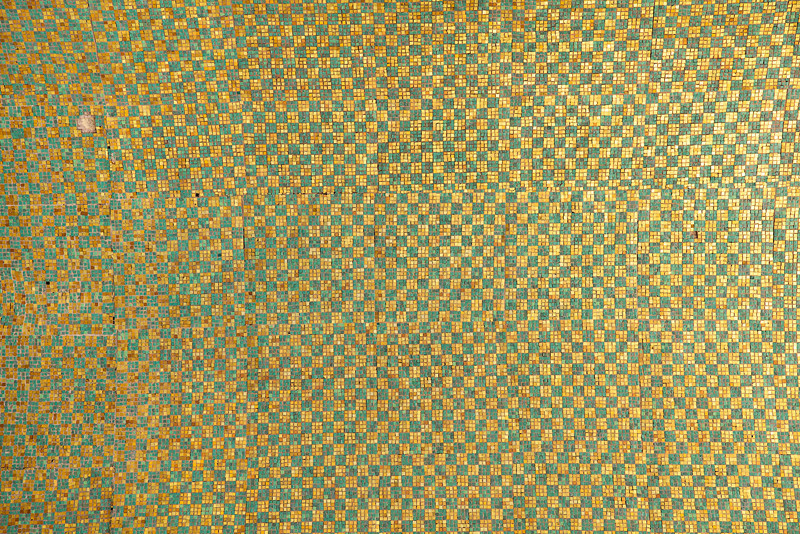 Green And Gold Tile Pattern