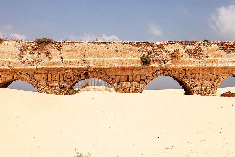Roman Aqueduct At Caesaria