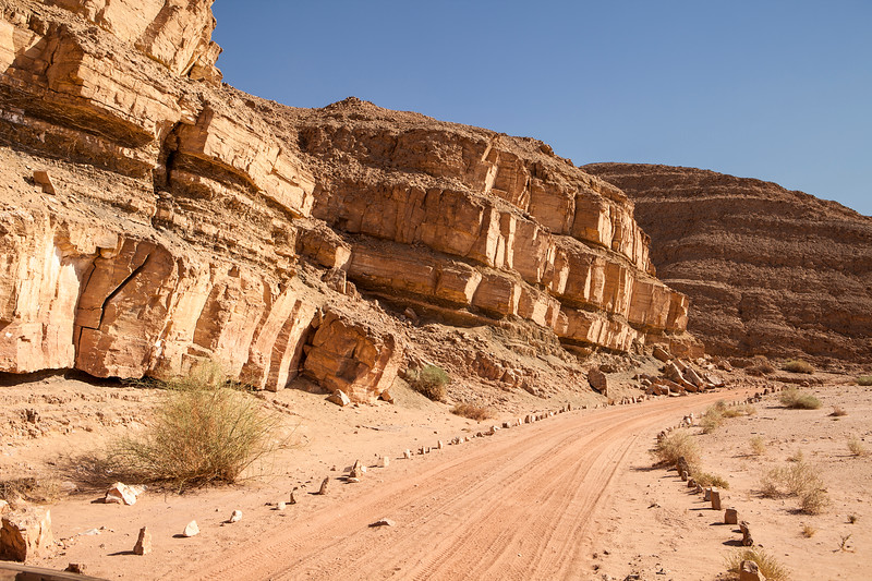Dirt Road In The Negev Desert