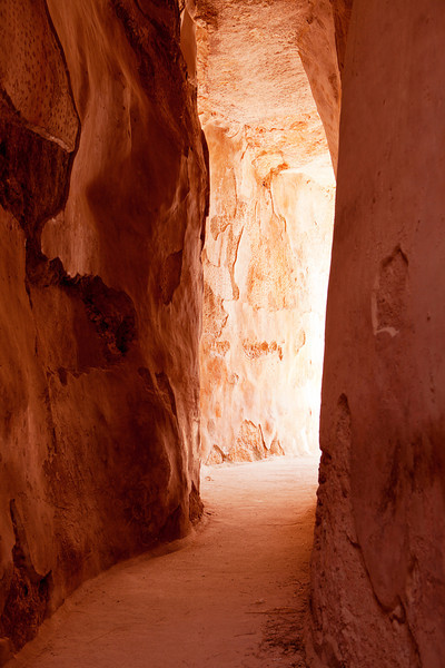 The cysterns of the ancient city of Zippori in Israel provided storage for water in ancient times and were carved out of soft limestone and covered with mortar. The reservoir extends for hundreds of meters in a canyon that is 20-40 feet tall.