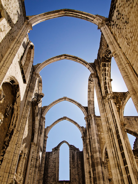 The Carmo Convent is a historical building in Lisbon, Portugal. The medieval convent was ruined in the 1755 Lisbon Earthquake, and the ruins of its Gothic church (the Carmo Church or Igreja do Carmo) are a historic landmark.