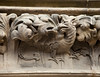 A dragon is carved into a decorative frieze over the door of the St. Giles Cathedral in Edinburgh, Scotland. A fine example of draftsmanship from medieval stoneworkers.