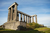 The National Monument in Edinburgh, Scotland was designed as a war memorial in the 1800s. Intended to be a copy of the Parthenon in Athens, it was never finished.