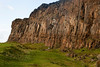 A close look at the Salisbury Crags in Edinbugh's Holyrood Park. These cliffs were formed from a lava flow millions of years ago.