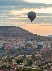 Balloons at Sunrise, Cappadocia, Turkey, 2012