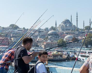 Fishing Bridge, Istanbul, Turkey, 2012