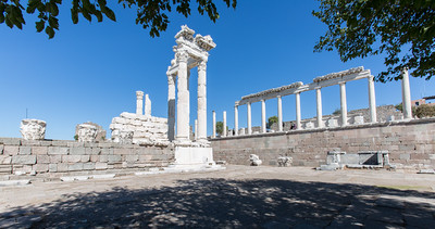 Reconstructed Temple of Trajan, Pergamon, Turkey, 2012