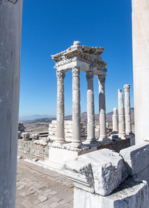 Reconstructed Temple of Trajan, Pergamon, Turkey, 2012