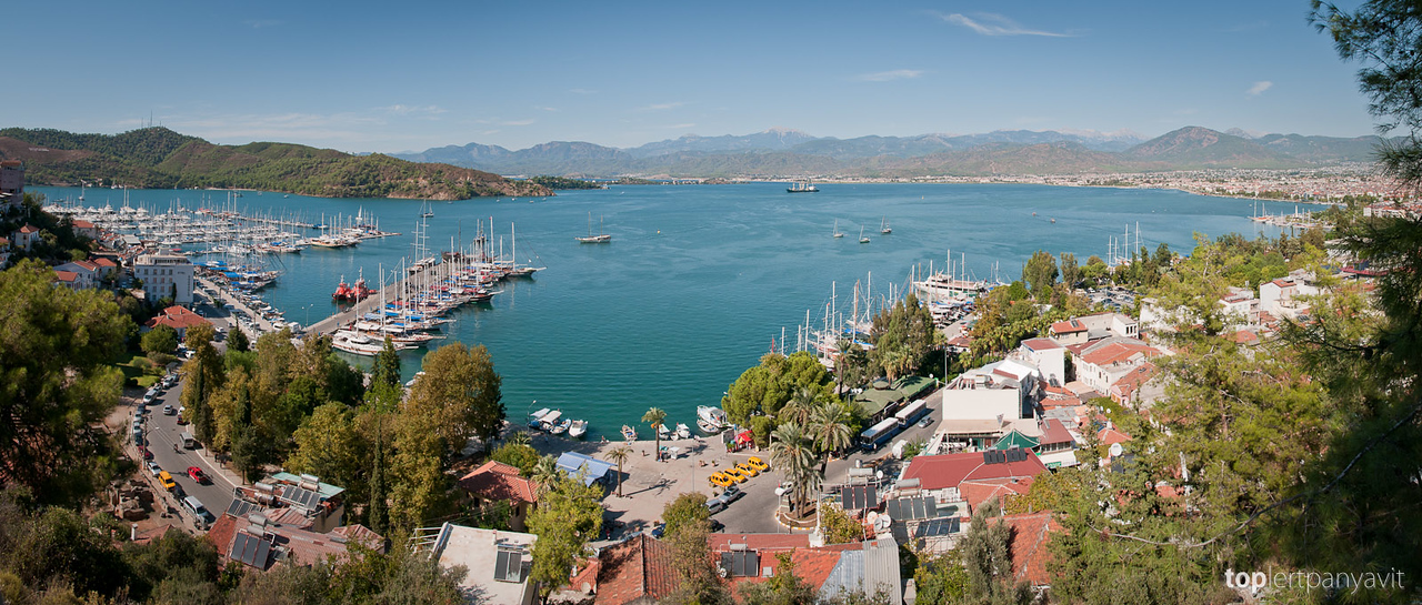 Panoramic views of Fethiye